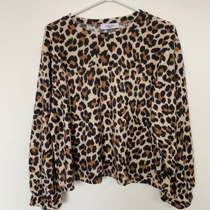 Carly Jean Los Angeles Leopard Print Top
